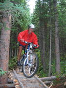 Mountain biking trails at White Pine Resort. White Pine Ski Area courtesy photo