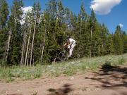 Mountain biking trails at White Pine Resort. Pinedale Online photo