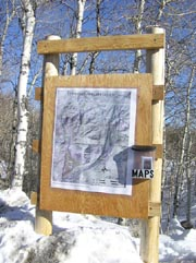 Ski Map Kiosk at Nordic trailhead