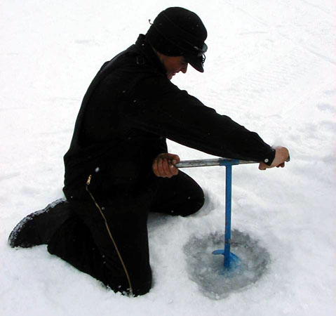 ice fishing hole - photo #43