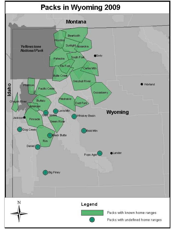 Sunlight Basin Wyoming Map.Wolf Pack Information Wolf Watch By Cat Urbigkit Pinedale Online