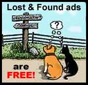Lost and Found ads are free!