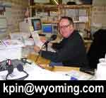 Bob Rule, KPIN 101.1 Pinedale News Radio. Pinedale Online photo.